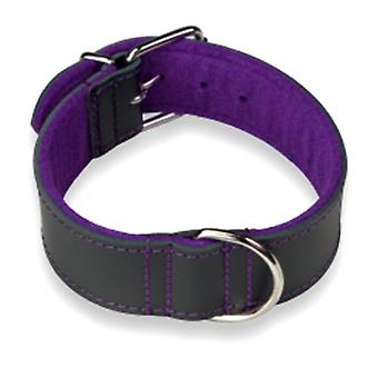 Arppe Choppers Leather Necklace Black / Purple Different Sizes for Dog