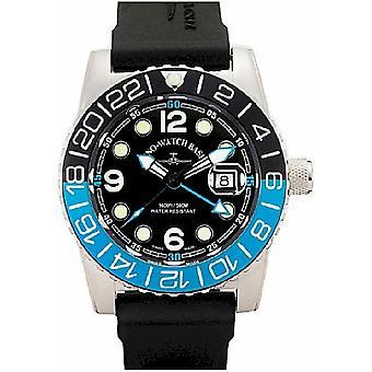 Zeno-watch mens watch of airplane diver quartz points 6349Q-GMT-a1-4