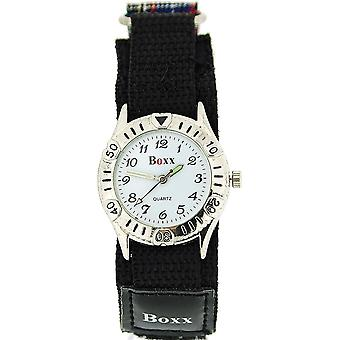 Boxx Unisex Children's Analogue Blue & Black Tartan Easy Fasten Sports Watch