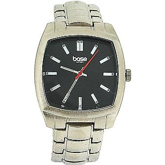 Base London Gents Black Dial & Silver Tone Metal Bracelet Strap Watch DQ94.00BL
