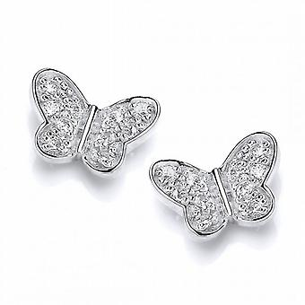 Cavendish Franse Sterling zilver en CZ Butterfly Stud Earrings Stud Earrings
