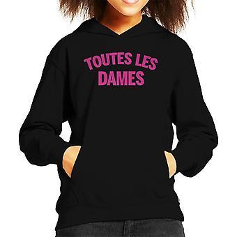 Toutes Les Dames Neon Vinyl Kid's Hooded Sweatshirt