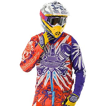 Troy Lee Designs Orange-Purple 2012 Piston SE MX Jersey