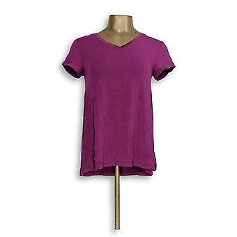 H door Halston vrouwen ' s top XXS Essentials V-hals paars A306231