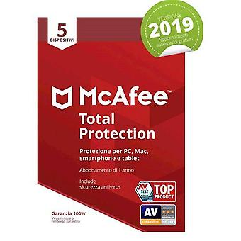 Mcafee total protection 2019 5 devices 1 year subscription pc/mac/smartphone/tablet