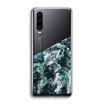 Huawei p30 transparente caso-onda do oceano