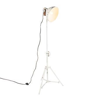 QAZQA Industrial floor lamp tripod white - Mangoes