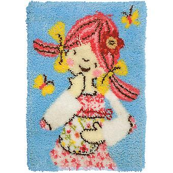Emily Button Rug Latch Hook Kit 27 1 2
