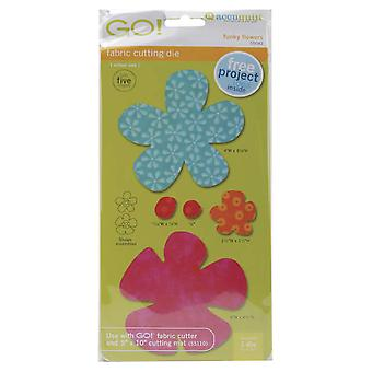 Go! Fabric Cutting Dies Funky Flower 550 42