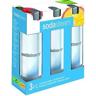 Sodastream PET Sprudlerflasche 3er-Pack für Soda-Maker Cool Clear, Grey 1041342490