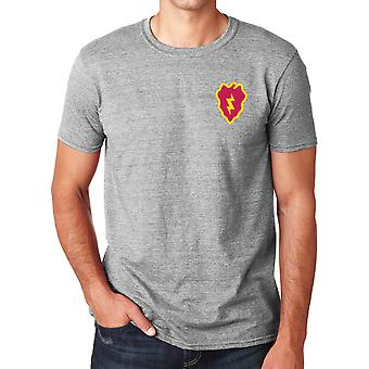 US Army 25th Infantry Division Embroidered Logo - Ringspun Cotton T Shirt