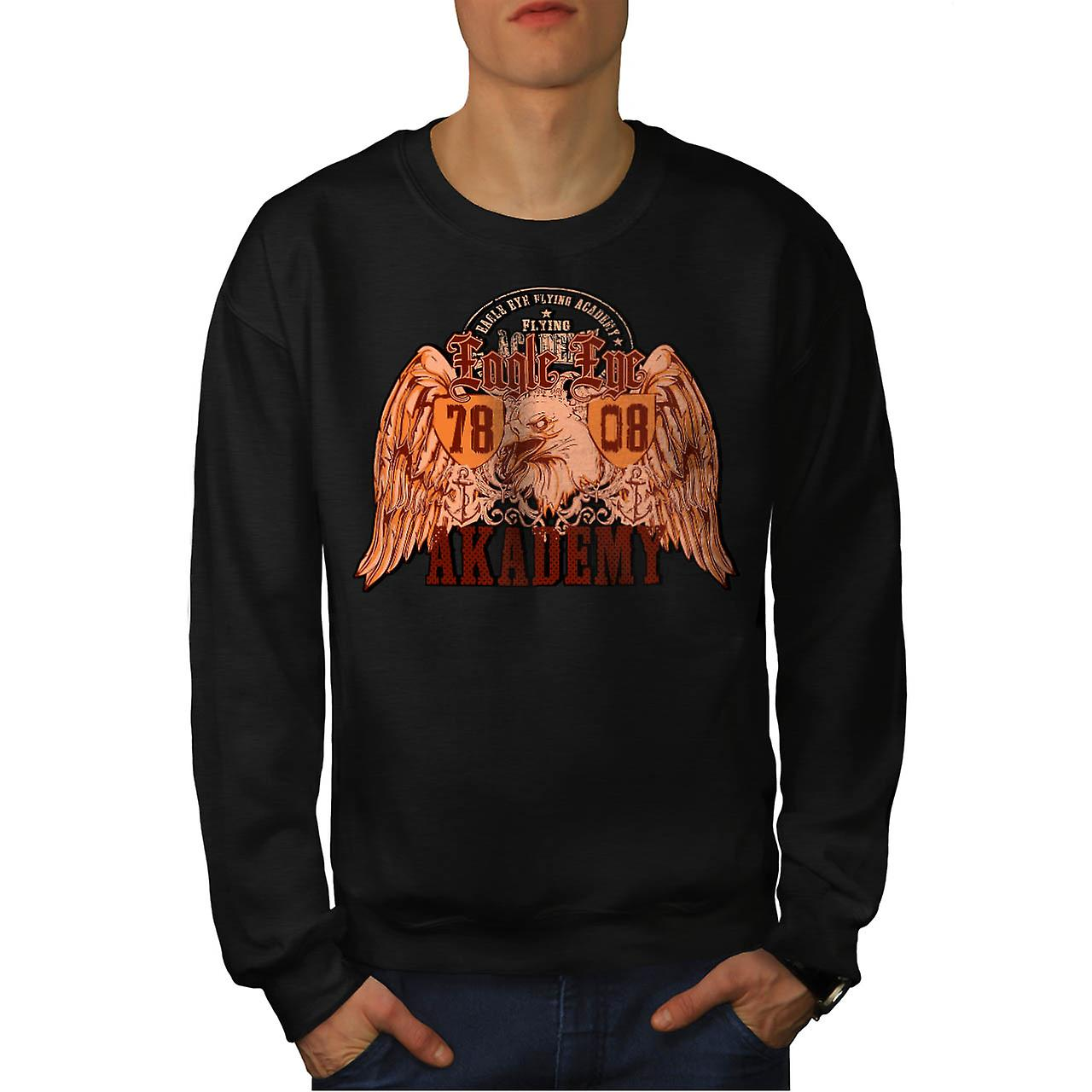 Eagle Eye Flying Team Academy hombres negro sudadera | Wellcoda