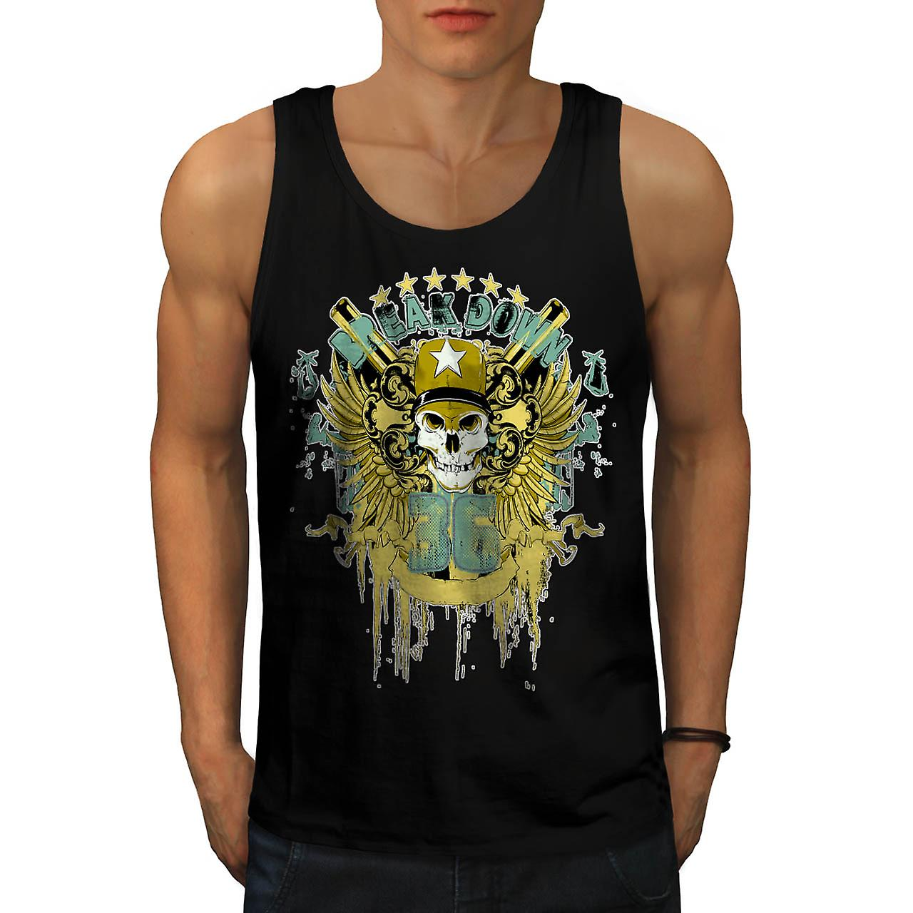 Break Down Troop Army Sport Team Men Black Tank Top | Wellcoda