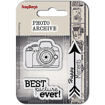 ScrapBerry's Photo Archive Clear Stamp-Best Picture 907011B