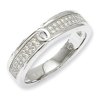 Sterling Silver and CZ Fancy Ring - Ring Size: 6 to 8