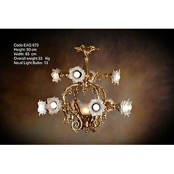 chandelier glass strass lamp brass baroque  antique chandelier strass glass AgEag0673