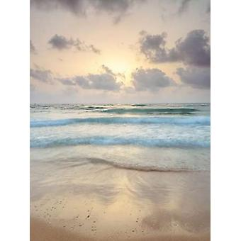 Tranquil beach with cloudscapes Poster Print by  Assaf Frank