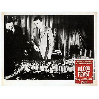 Feest van het bloed van de linker Scott H Hall William Kerwin Louise Kemp op Lobbycard 1963 film Poster Masterprint