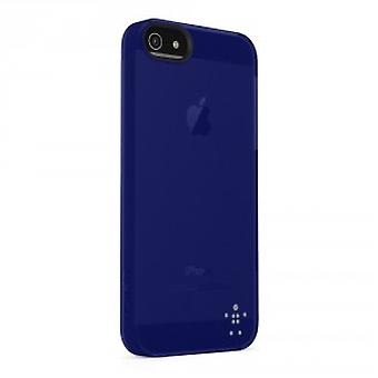 Belkin Shield Sheer Cover Hülle für iPhone 5/5S - Dunkel Blau