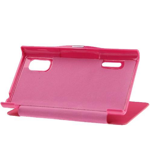 Cell phone cover case for LG Optimus L5 / E610 pink brushed