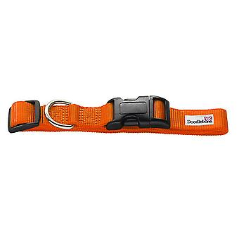 Doodlebone Bold Nylon Collar Orange Large 25mm X 50-75cm