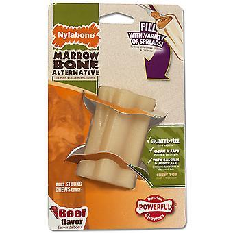 Nylabone Animal Alternative Marrow Bone Beef Flavour Small