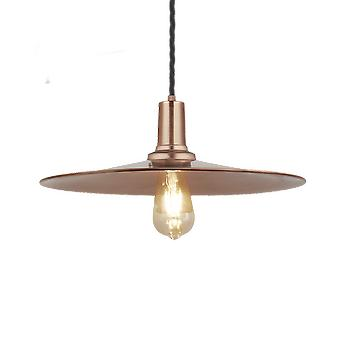 Vintage Sleek Edison Flat Industrial Pendant Light - Copper - 15