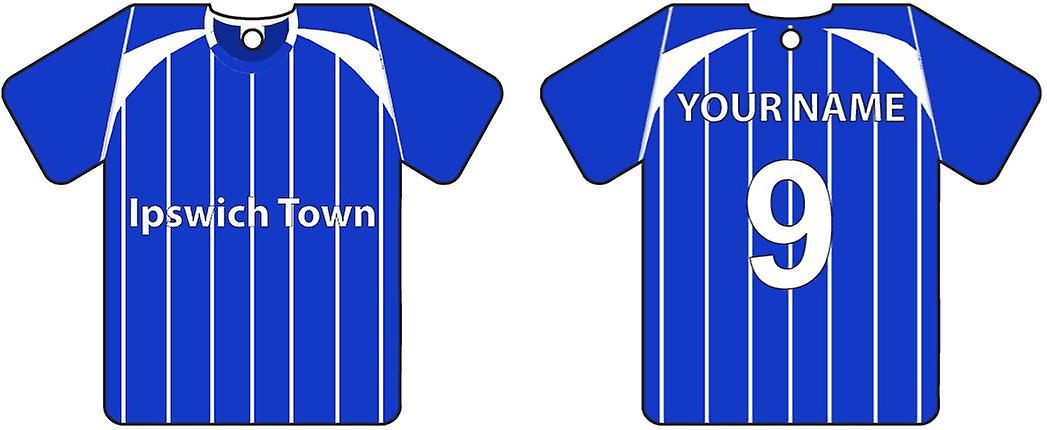 Personalised Ipswich Town Football Shirt Car Air Freshener