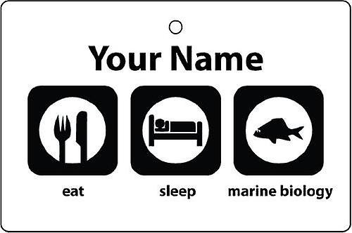 Personalised Eat Sleep Marine Biology Car Air Freshener