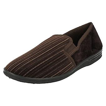 Mens Four Seasons Cord Slippers David