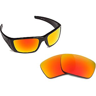 New SEEK Replacement Lenses for Oakley FUEL CELL Red Silver Mirror
