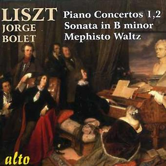 Jorge Bolet - Liszt: Piano Concertos Nos. 1 & 2; Sonata in B Minor; Mephisto Waltz [CD] USA import