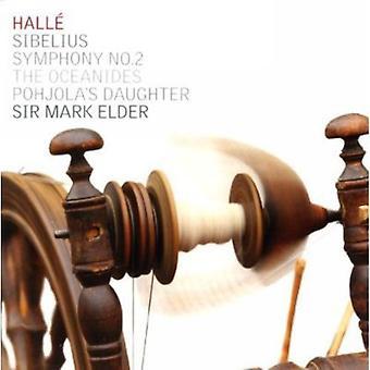 J. Sibelius - Sibelius: Symfoni nr. 2; Oceanides; Pohjolas datter [CD] USA importerer