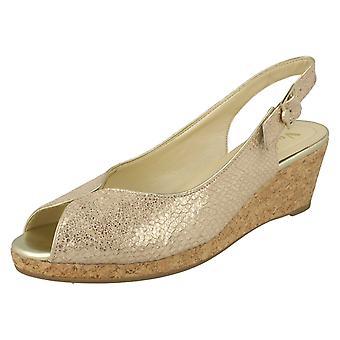 Ladies Van Dal Cork Wedge Sandals Gable