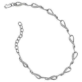9Ct White Gold Bracelet And Diamond 0.08 Carat