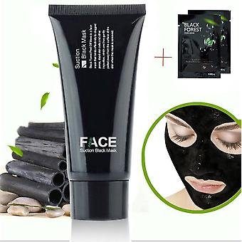 FaceApeel Blackhead Remover Mask Tube 60g (2.11 Oz) + 2 Black Forest Spa Strip 6g (0.2 Oz) - Premium Mud Facial Mask