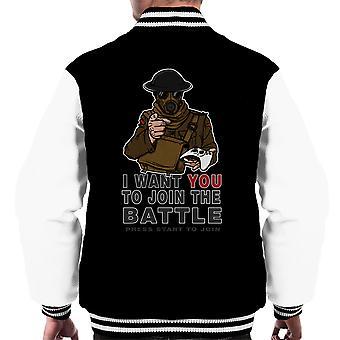 Slutte sig til kampen mænds Varsity jakke