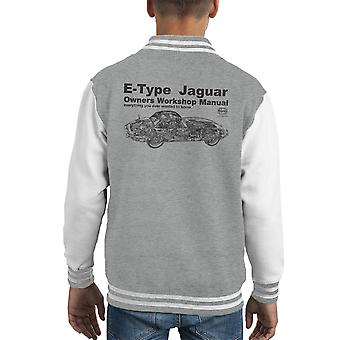 Haynes Besitzer Workshop manuelle Jaguar E Typ schwarz Kid Varsity Jacket