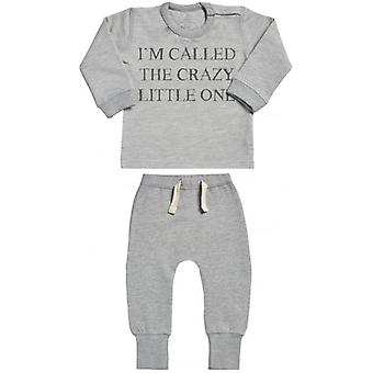 Spoilt Rotten They Call Me The Crazy One Sweatshirt & Joggers Baby Outfit Set