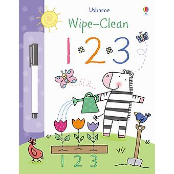 123 (Usborne Wipe Clean Books) (Paperback) by Brooks Felicity Hall Nicola Lamb Stacey