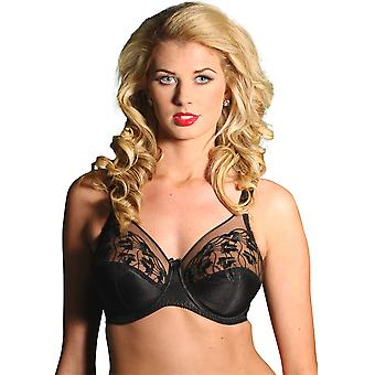 Silhouette Cascade Black Floral Full Cup Bra 3102