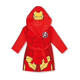 Marvel Avengers Children's Hooded Red Fleece Iron Man Dressing Gown