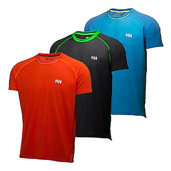 Helly Hansen Mens Pace Mesh Lifa Flow SS Top Small Black