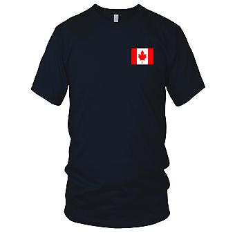 Canada Country National Flag - Embroidered Logo - 100% Cotton T-Shirt Kids T Shirt