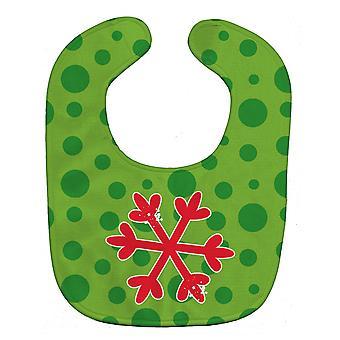 Carolines Treasures  BB8946BIB Christmas Snowflake Red Baby Bib