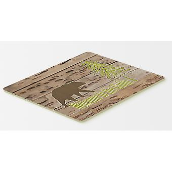 Carolines Treasures  SB3081CMT Welcome to the Cabin Kitchen or Bath Mat 20x30