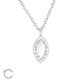 Marquise spegel crystal från Swarovski® - 925 Sterling Silver Halsband