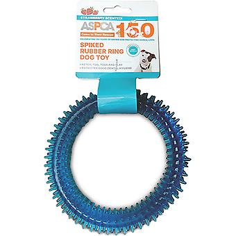 ASPCA Spiked Rubber Ring Dog Toy-Blue AS11126-BLUE
