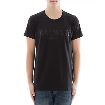Balmain men's S8H8601I157176 black cotton T-Shirt