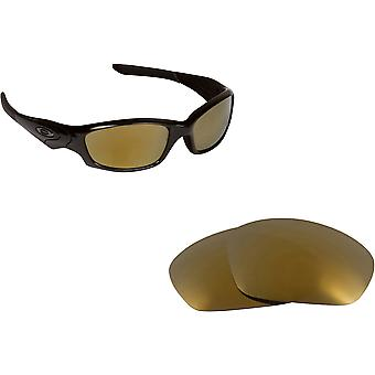 Best SEEK Polarized Replacement Lenses for Oakley STRAIGHT JACKET Gold Mirror